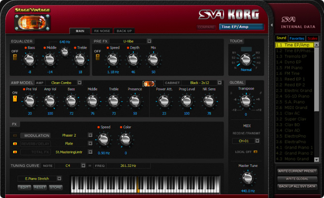 Korg SV-1 Stage Vintage Piano - Editor/Librarian Software