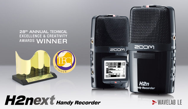 Zoom H2n - Tec Award Winner