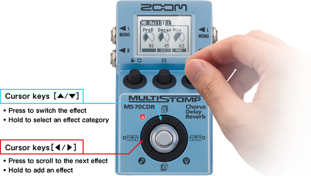 Zoom MS-70CDR - Easy Operation
