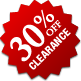 Clearance - 30% Off