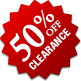 Clearance - 50% Off