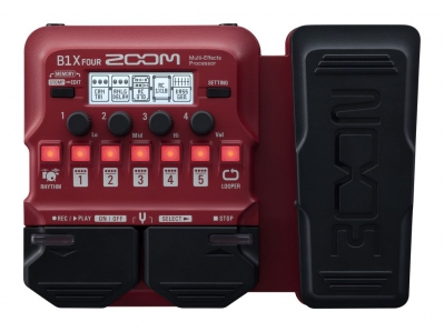 Zoom B1X Four Bass Multi Effects Pedal With Expression Pedal