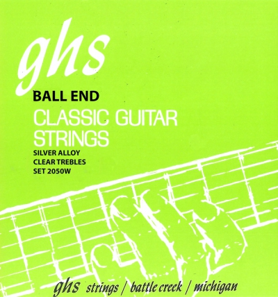 GHS 2050W Ball End Regular Classics with Silver Copper Basses Classical Guitar Strings