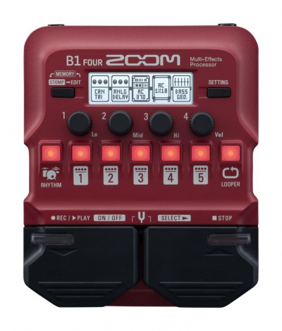 Zoom B1 Four Bass Multi Effect Pedal