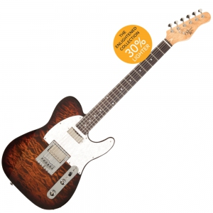 Michael Kelly Enlightened 55 Tiger's Eye Burst Electric Guitar