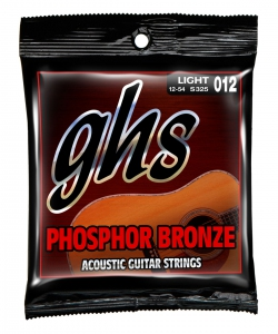 GHS S325 Phosphor Bronze Light Acoustic Guitar Strings 6