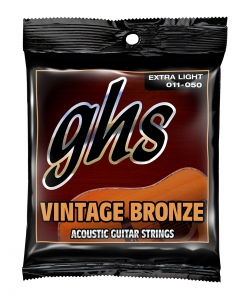 GHS VN-XL Extra Light Vintage Bronze Acoustic Guitar Strings