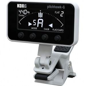 Korg PitchHawk-G AW-3G (Black) - Clip-on chromatic tuner for guitar and bass