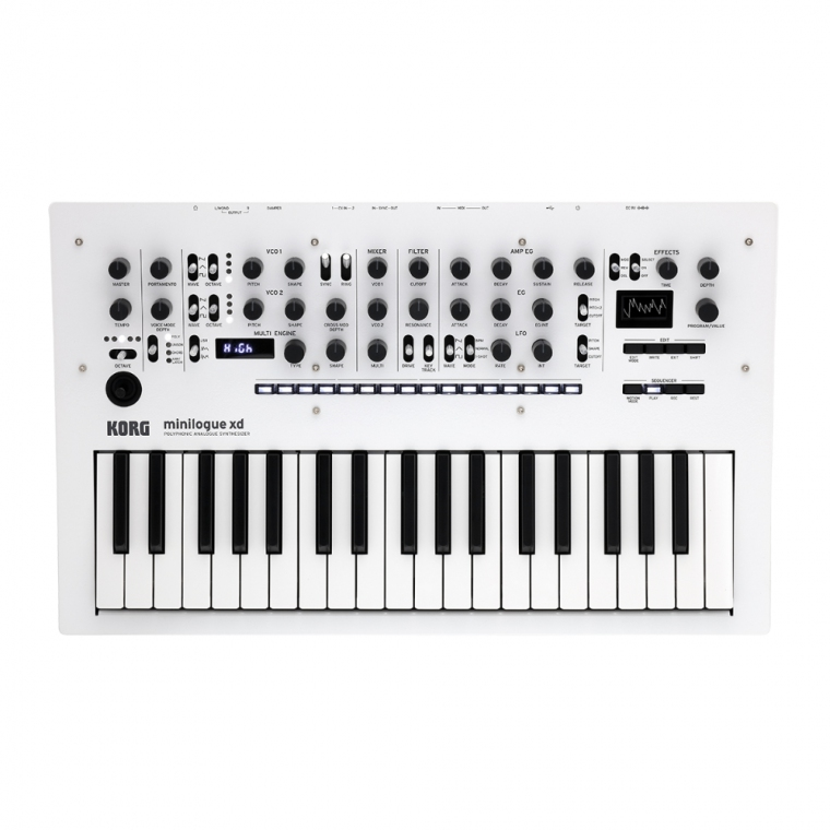 Korg Minilogue XD in Pearl White Polyphonic Analogue Synthesizer