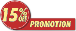 Promotion - 15% Off
