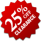 Clearance - 25% Off