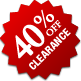 Clearance - 40% Off