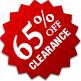 Clearance - 65% Off