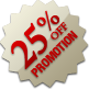 Promotion - 25% Off