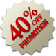 Promotion - 40% Off